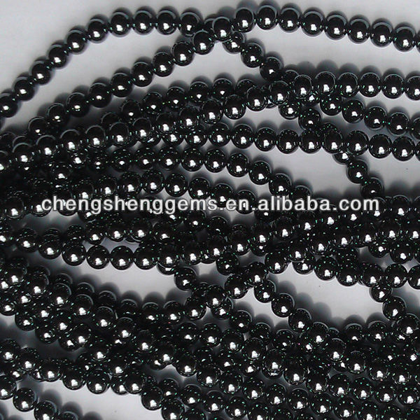 6mm natural round smooth hematite loose gems beads