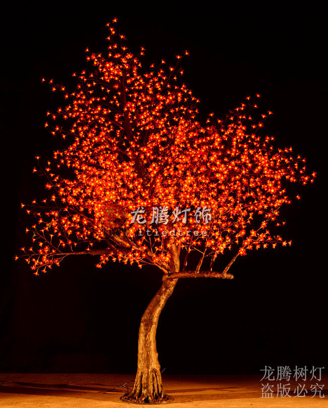 3m outdoor artificial Red plastic cherry blossom tree