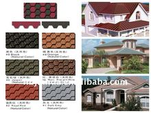 fiberglass reinforced colored asphalt shingle and waterproof roofing tile