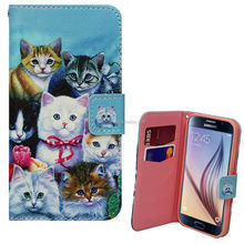 DOG CAT PUPPY KITTY ANIMAL FLOWER PU LEATHER WALLET CASE COVER FOR SAMSUNG galaxy note 5