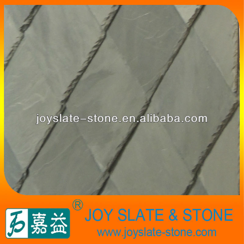 Decorative synthetic slate roofing