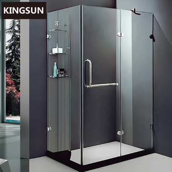 K-7212 Pakistan Frameless Freestanding Corner Glass Shower Cabinet Enclosure