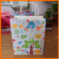 paper bag with logo Spring Bright Color Cello Cellophane Bird Flowers paper bag
