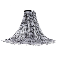 Fashionable Wave Pattern Cotton Linen Lightweight Scarf