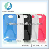 Colorful soft gel x line tpu case for galaxy note II N7100