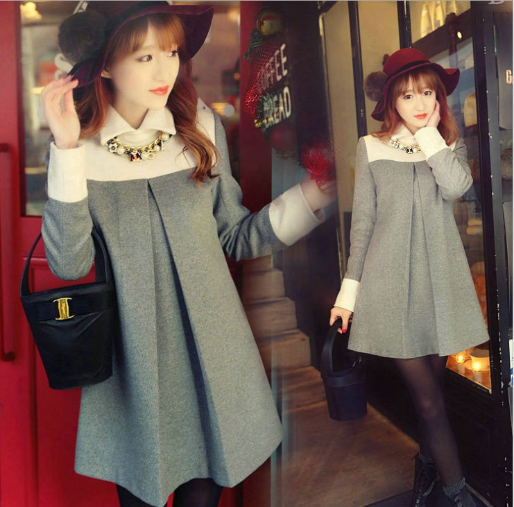 zm21831a 2016 Autumn winter women clothes dress Korean fashion women clothing blouse