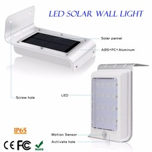 Amazon Best Seller High Quality 1W 16 LED Outdoor Wall Mounted Solar Street Light With Motion Sensor