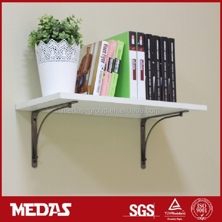 wall mounted wooden floating/adhesive shelf brackets