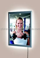 Super thin edge-lit aluminum super slim LED light box aluminum clear plastic poster frame