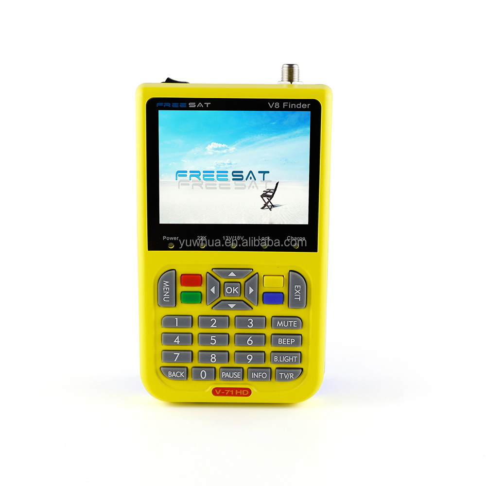 1080p hd satellite finder meter with low prices and dvb s2 vision color lcd panel satellite receiver