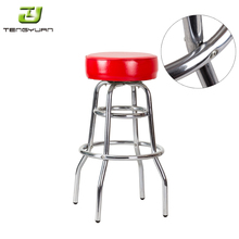 Cheap Promotion Steel Frame Chrome Plated Swivel used bar stools