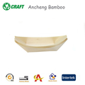 Dinner serving biodegradable japanese bamboo wooden boat dishes & plates