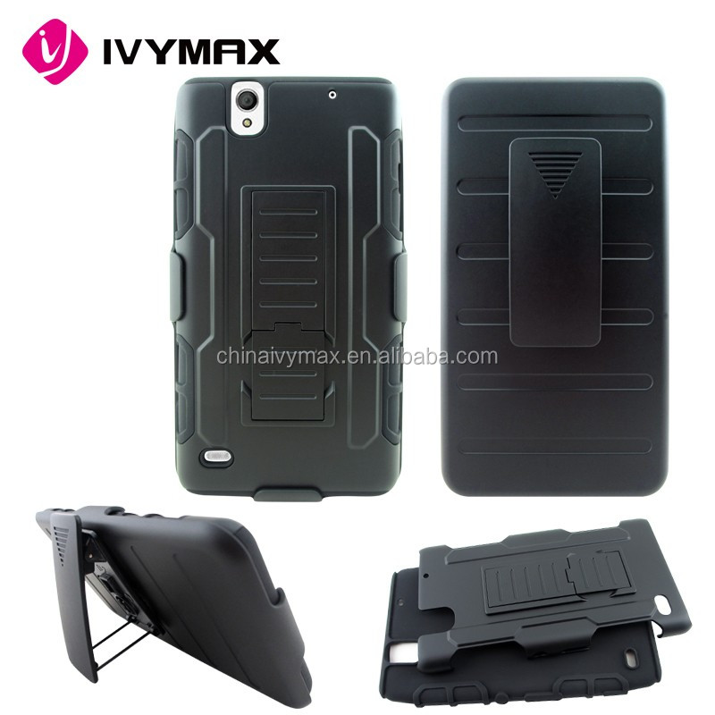 Fashionable design case for Sony Xperia C4 super robot hybrid case