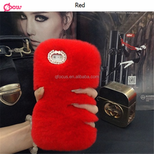 Nice Rabbit Fur Phone Cases For Iphone 5 5s Rabbit Ear Back cover