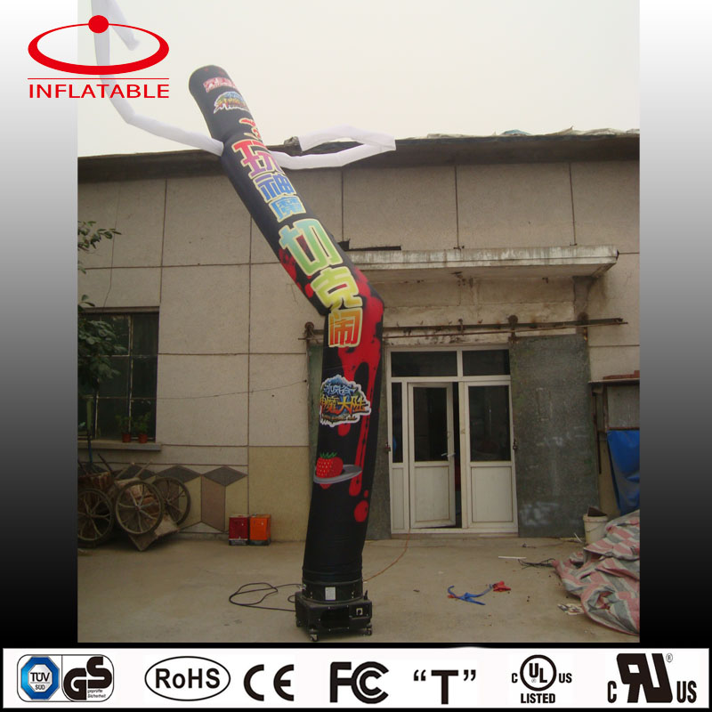 Custom made inflatable sky man with logo printing, inflatable air dancer for game promotion