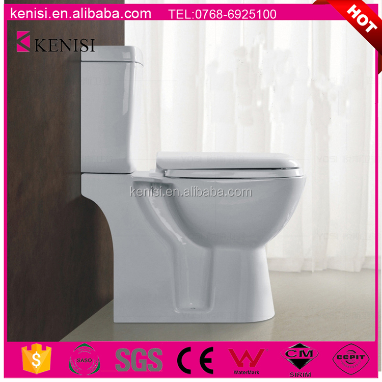 Dual Flush P-trap/S-trap WC Ceramic Two Piece Standard Toilet Size