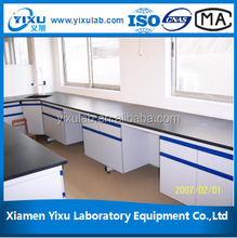 Biology floor-mounted workstation Full Steel wall bench central laboratory island price