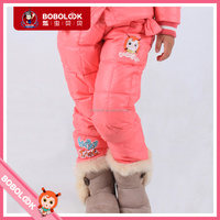 2016 winter girls down pants extra thick long pants wholesale children's boutique clothing