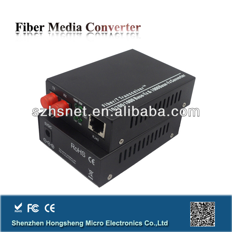 1000Mbps CCTV to IP Converter with Single Mode Dual Fiber 40km FC