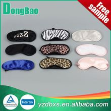 Custom your own logo sleeping polyester custom eye mask