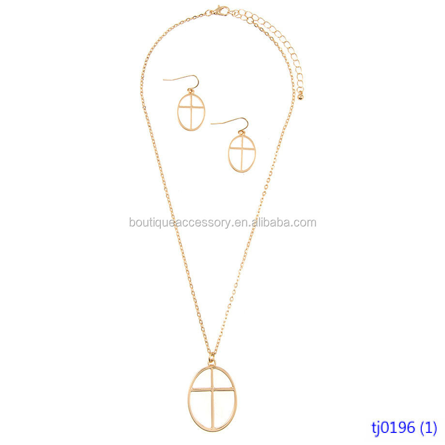 Elongated Starfish Pendant with Tassel Necklace Set