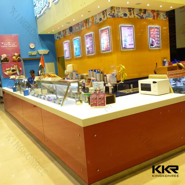 KKR mcdonald's restaurant solid surface table top bar counters for sale