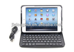 2013 Hot sale For iPad Mini Bluetooth Keyboard with Slidable Case Stand