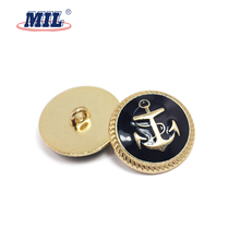 Fashion design zinc alloy shank button for clothes