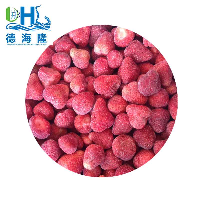 Bulk IQF strawberry in shandong factory