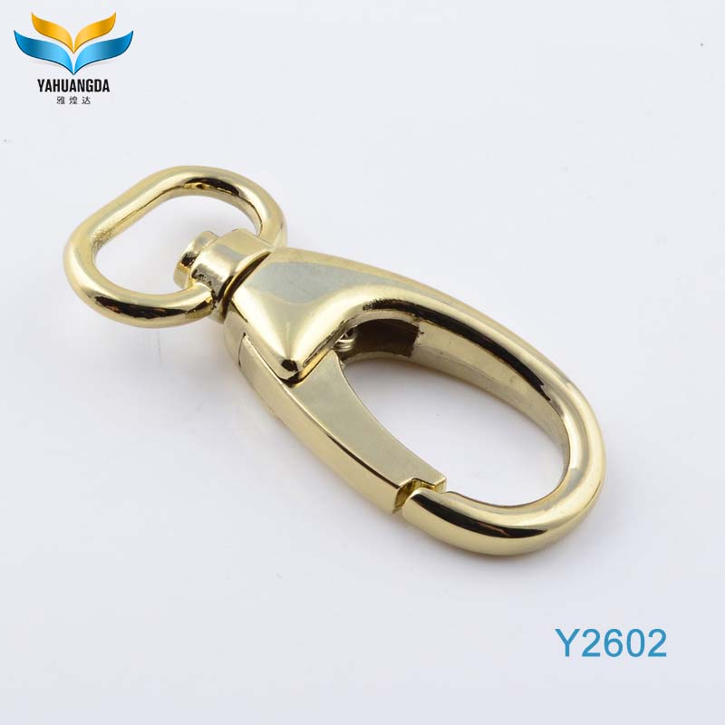 light-gold metal snap hooks for handbag