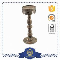 Oem Production Attractive Iron Floor Standing Metal Candle Holders