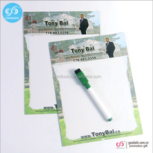 custom magnetic board/magnetic glass whiteboard/promo gifts magnetic writing board with pen