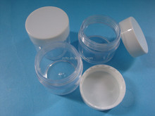 recycled plastic cosmetic jars, clear plastic jar