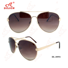 Fashion designer brand metal women aviator sunglasses