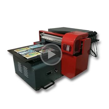 Best price durable A3 / A4 size UV led digital flatbed printer with DX5 head