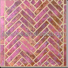Top quality rustic kitchen tile glazed red clay brick floor tile