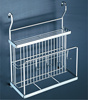 Metal Kitchen Wall mounted Wire Chopstick &Cutting Board Rack /Wire Wall Mounted Display Storage Holder Rack( 900.148.000 )