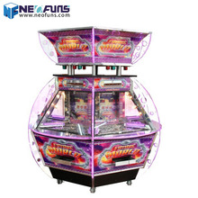 Luxury coin dozer hot sale coin operated 6 players coin pusher game