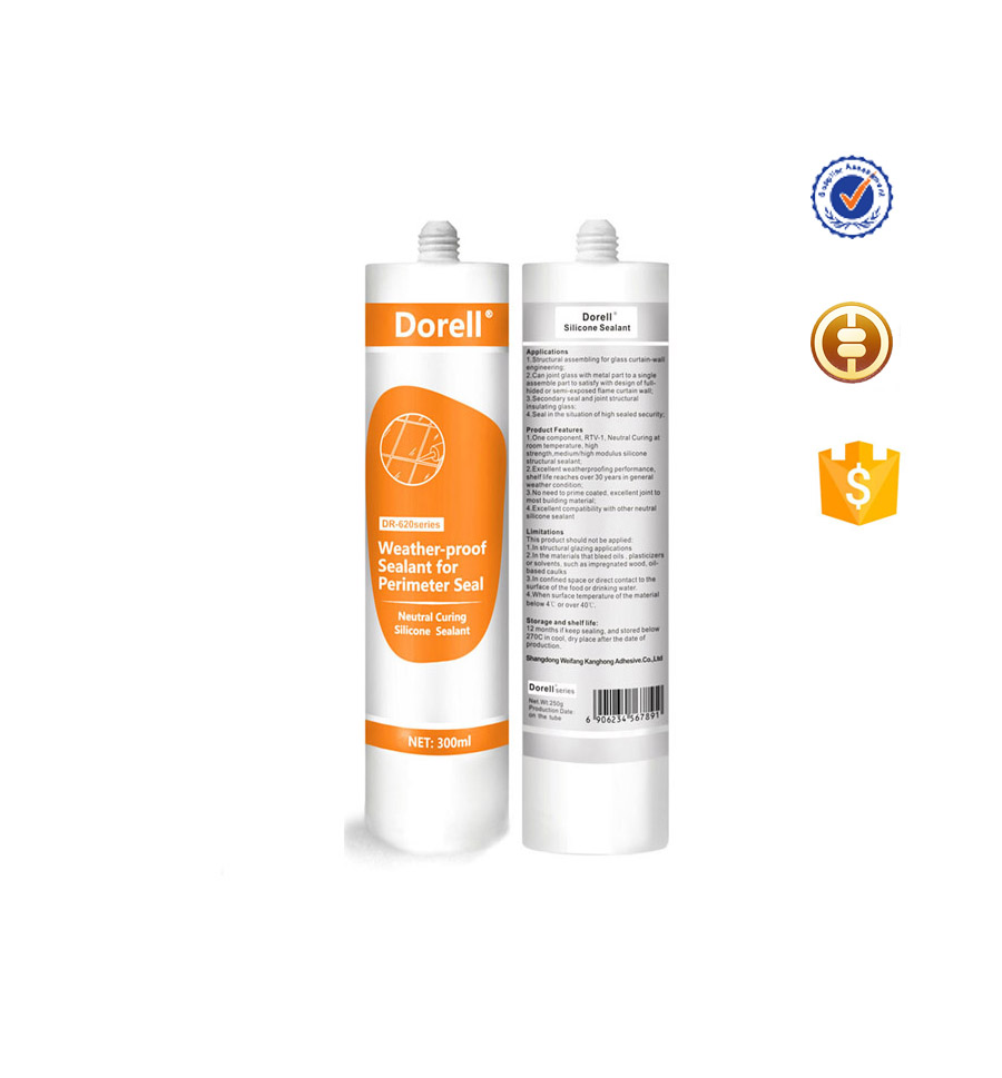 Transparent Weatherproof Construction Silicone Sealant