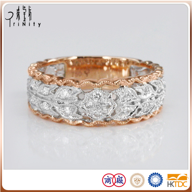 with two-year warranty men stylish gold rings