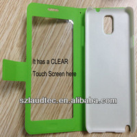 Clear Hard case For Samsung Galaxy Note 3 leather Back Cover Housing Case Holster for samsung note3