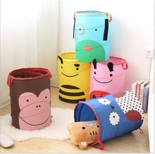 Storage Nylon Cartoon Foldable nylon woven Pop-Up Hamper/clothes laundry basket