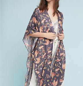 New Arrival Fashion Batwing Sleeve Printed Long Kimonos