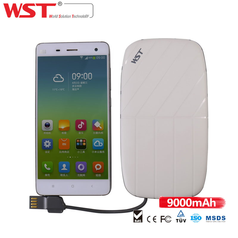 Top quality mobile power bank 5V 2.1A 5v portable power pack