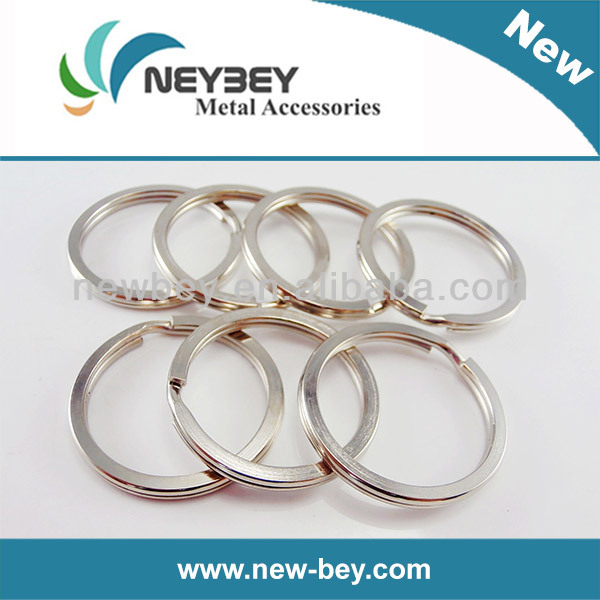 Decorative Metal Split Key Rings Flat Edge MKP 30mm in Bulk Sellling