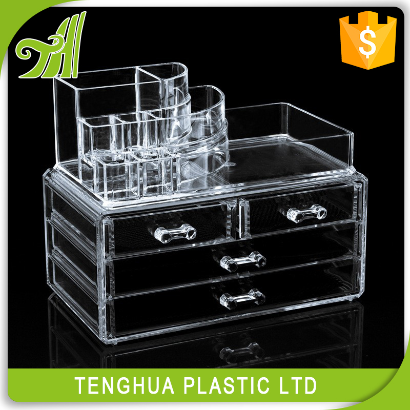 TH 2042-1 acrylic box,23.7*15*18.5cm acrylic storage box,acrylic makeup organizer