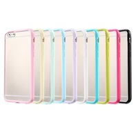 for case of iphone 6 marcaron colors TPU bumper with matt surface PC back base protective slim fit mobile phone case