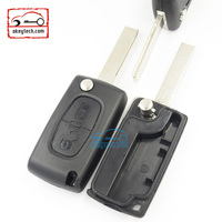 High Quatity Citroen romote flip key shell button 307 blank NO battery place 0523 Citroen key case