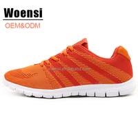 new elegant cool comfortable high quality bright color fly knit sports shoes women