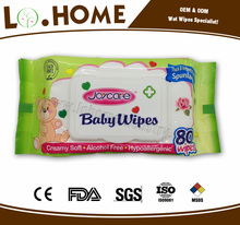 80pc cheap baby skin care wet wipe, baby wipes manufacturer in China